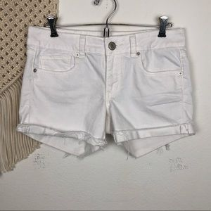 AEO White Cut Off Jean Shorts Size 8